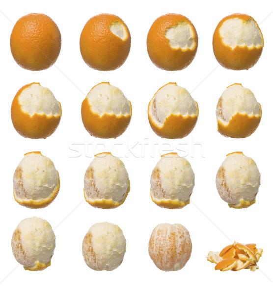 Stock fotó: Narancs · több · hámozott · gyümölcs · idő