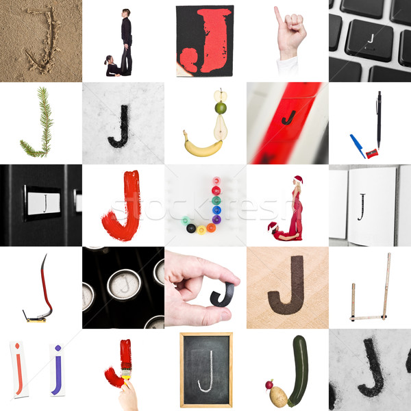 Collage of Letter J Stock photo © gemenacom