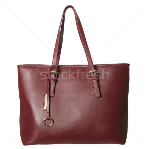 Rouge bourse isolé blanche design cuir Photo stock © gemenacom