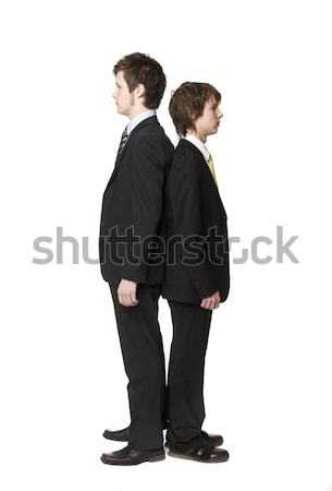 Two men compare length Stock photo © gemenacom