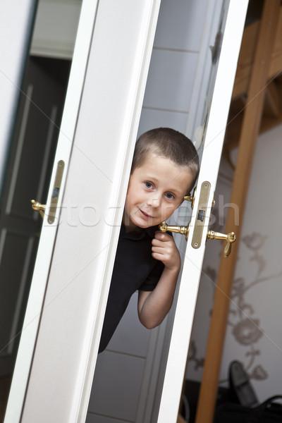 Little Boy by the door Stock photo © gemenacom