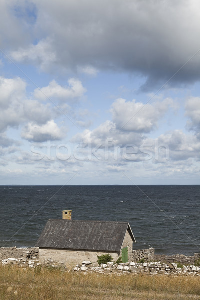 Old farmhouse by the water Stock photo © gemenacom