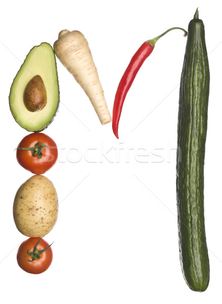 The letter 'M' made out of vegetables Stock photo © gemenacom