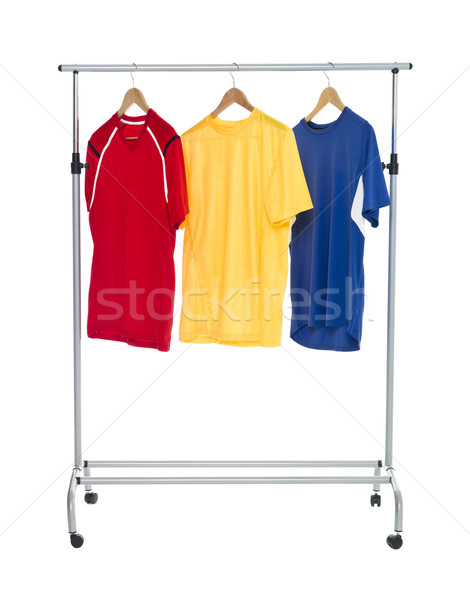 Colored Shirts on a Clothes Rack Stock photo © gemenacom
