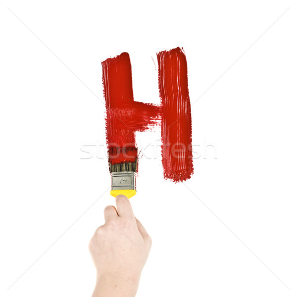 Stock photo: Painting Letter H