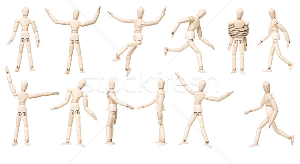 Etalagepop poppen verschillend geïsoleerd witte Stockfoto © gemenacom