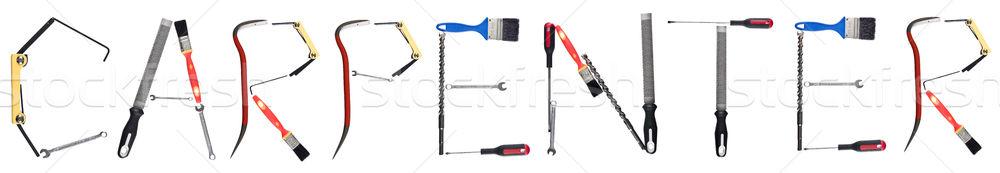 The word 'Carpenter' made of tools Stock photo © gemenacom