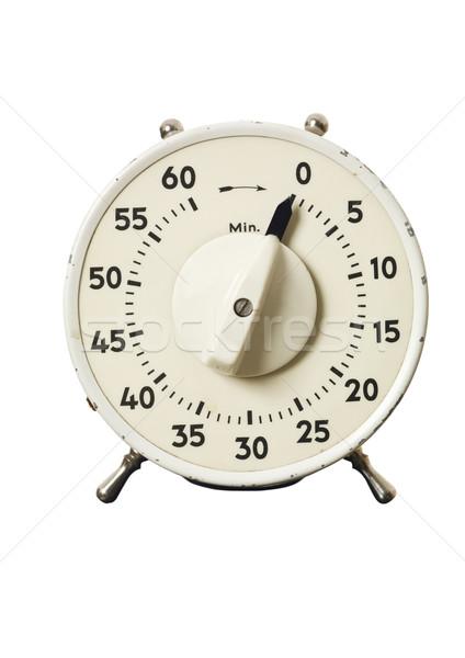 Rétro timer isolé blanche horloge temps Photo stock © gemenacom