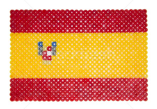 スペイン国旗 プラスチック 真珠 にログイン フラグ 赤 ストックフォト © gemenacom