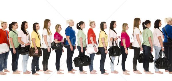 Girls in a line Stock photo © gemenacom