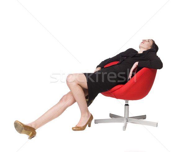 Lazy woman in a chair Stock photo © gemenacom