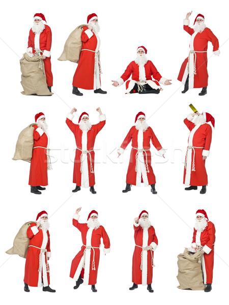 Collage of Santa Stock photo © gemenacom