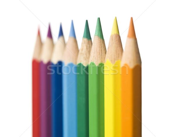 Lápis criança lápis verde azul Foto stock © gemenacom