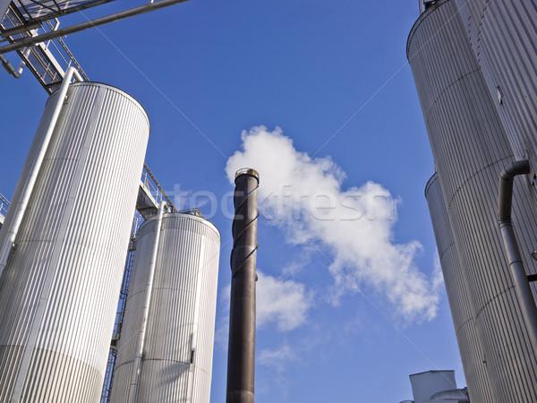 курение дымоход облака дым синий промышленности Сток-фото © gemenacom