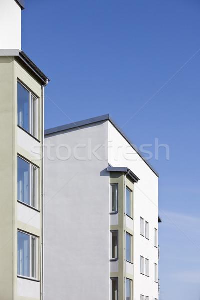 Modern building towards blue sky Stock photo © gemenacom