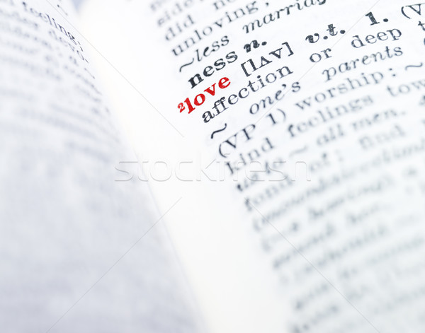 The word 'love' highlighted in a dictionary Stock photo © gemenacom
