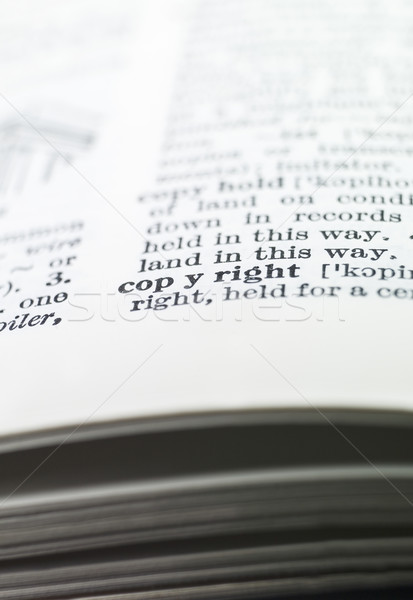the word 'copyright' highlighted in a dictionary Stock photo © gemenacom