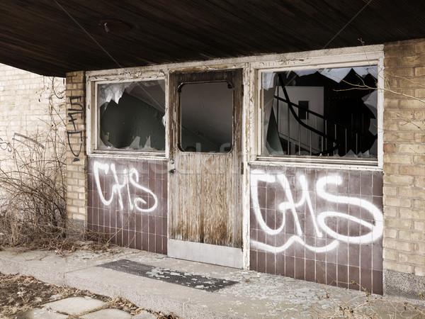 Ruined entrance Stock photo © gemenacom