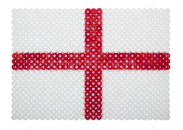 Zászló Anglia angol zászló műanyag gyöngyök felirat Stock fotó © gemenacom