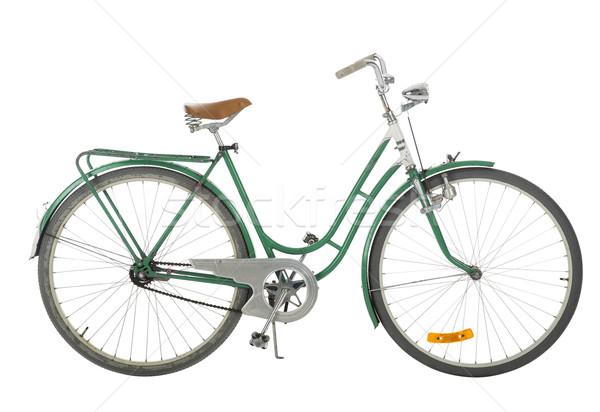Green Old fashioned bicycle Stock photo © gemenacom