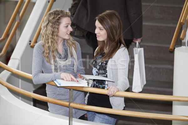 two girls talking Stock photo © gemenacom