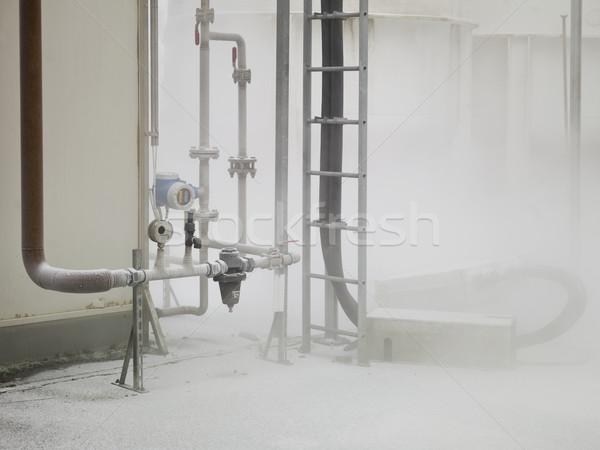Ködös ipar összetett lövés nap idő Stock fotó © gemenacom