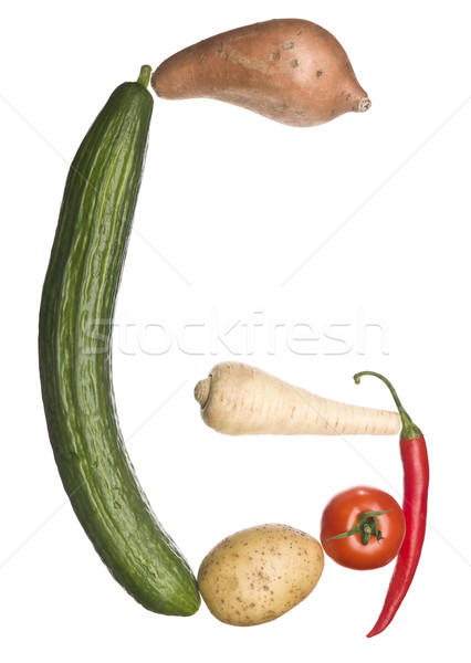 The letter 'G' made out of vegetables Stock photo © gemenacom