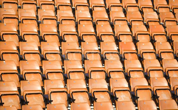 Stade orange président noir vide personne Photo stock © gemenacom