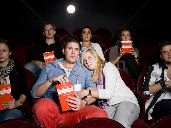 Bać para kina młodych film teatr Zdjęcia stock © gemenacom