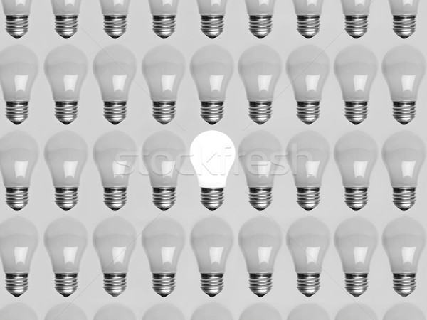 Collage of light bulbs Stock photo © gemenacom