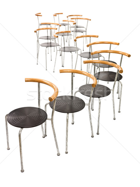 Múltiplo cadeiras isolado branco cadeira ninguém Foto stock © gemenacom