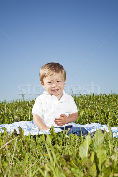 Child in the grass Stock photo © gemenacom