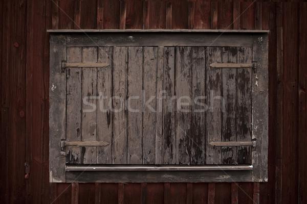 Ahşap tam kare duvar soyut dizayn Stok fotoğraf © gemenacom