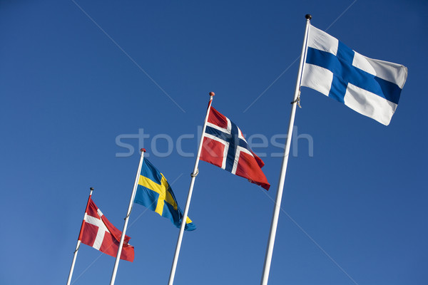Scandinavian Flags Stock photo © gemenacom