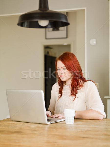 Lavoro donna business computer donne Foto d'archivio © gemenacom
