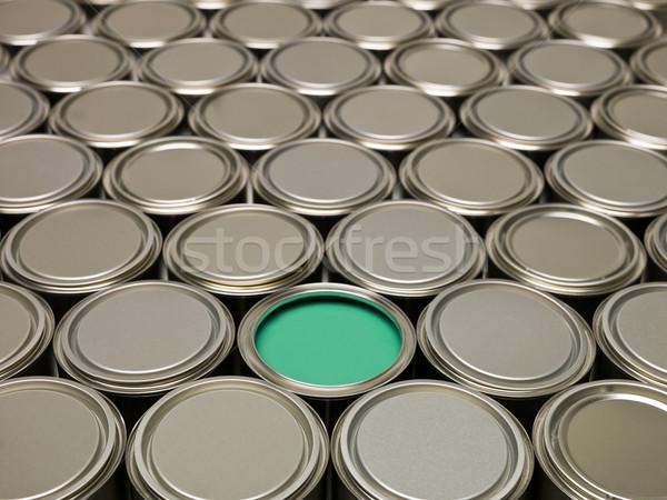 Full Frame of Paint Cans Stock photo © gemenacom