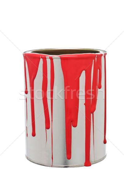 Festékes flakon piros izolált fehér fém csepp Stock fotó © gemenacom