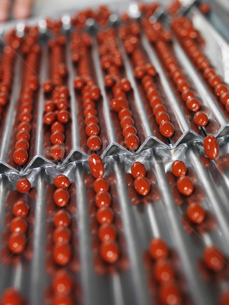 Farmaceutische industrie medische pillen productie lijn arts Stockfoto © gemenacom