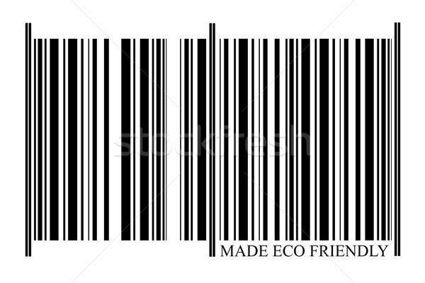 Eco Friendly Barcode Stock fotó © gemenacom