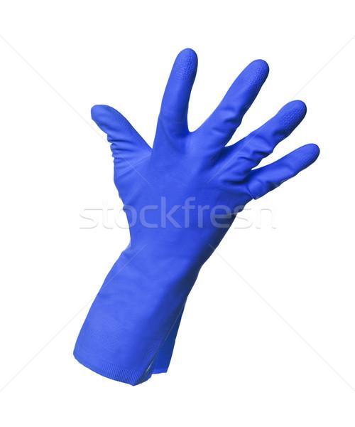 Blue protection glove isolated on white background Stock photo © gemenacom