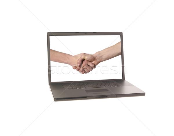 Laptop displaying  Stock photo © gemenacom