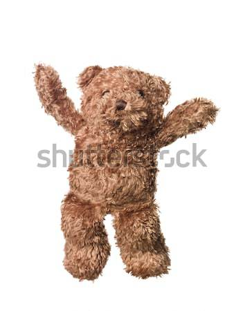 Photo stock: Timide · Nounours · isolé · blanche · amusement · ours