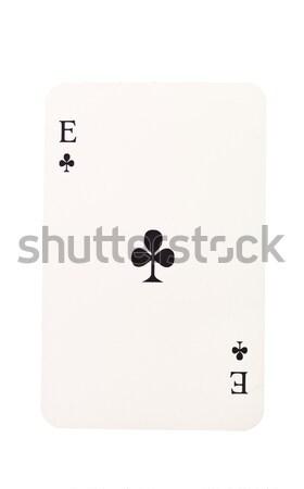 Ace isolé blanche noir trèfle succès Photo stock © gemenacom