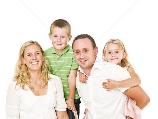 Izolált család fehér baba szeretet anya Stock fotó © gemenacom