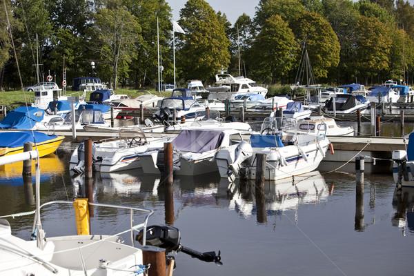 Plaisir port bateaux sport navire paysages Photo stock © gemenacom