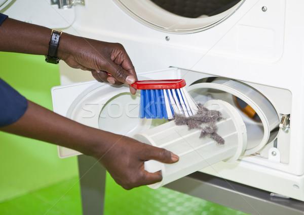 Cleaning the laundromat Stock photo © gemenacom