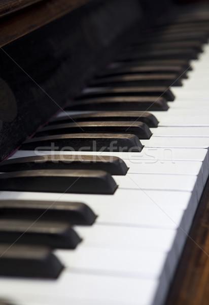 Piano keys with short focal depth Stock photo © gemenacom