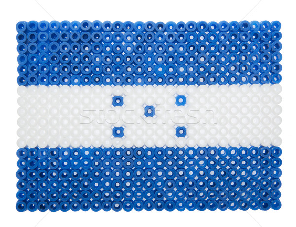 Bandiera Honduras plastica perle segno blu Foto d'archivio © gemenacom
