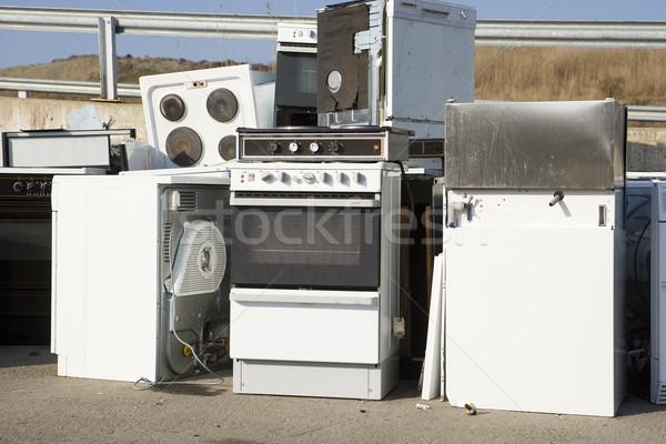 Mutfak cihaz çöp doğa Metal Stok fotoğraf © gemenacom