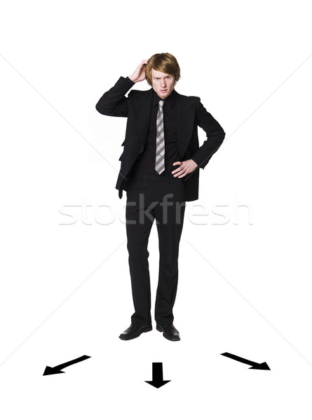 Man standing infront of a choice Stock photo © gemenacom